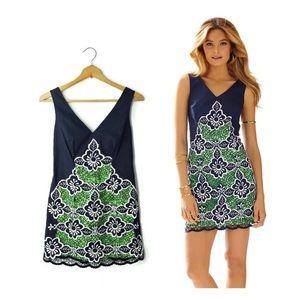 Lilly Pulitzer dress, size 00, navy w/ green